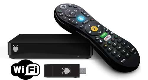 TiVo Mini VOX 4K wifi Bundle with TiVo Lifetime Service and Mini Wifi Adapter
