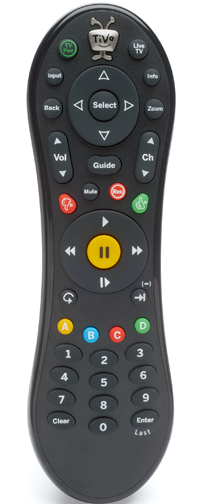 Factory Replacement RF/IR Remote Control for TiVo Bolt, Bolt Plus, Roamio, Roamio Plus and Roamio Pro