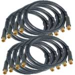 Satellite Coax Cable Package of 8 for Splitter/Diplexer